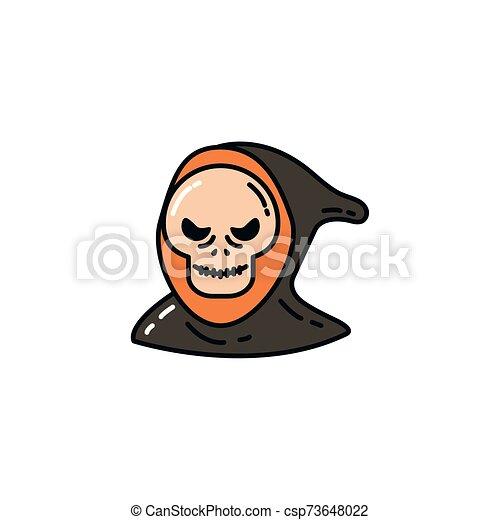 halloween death face flat character - csp73648022