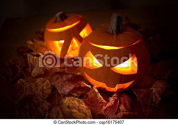 halloween, decoraciones - csp16175407