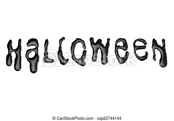 Halloween - Dripping Letters - Black