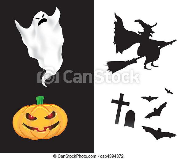 Elementos de diseño de Halloween - csp4394372