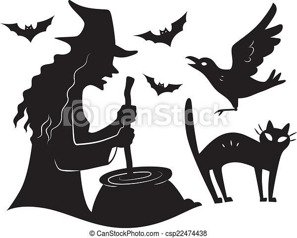 Elementos de diseño de Halloween - csp22474438