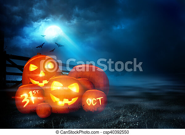 Halloween Evening Background - csp40392550