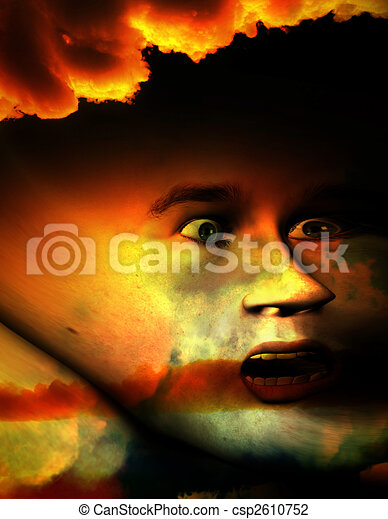 Halloween Face - csp2610752