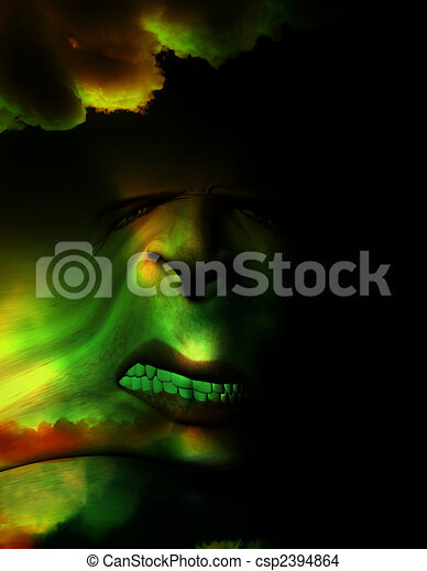 Halloween Face - csp2394864
