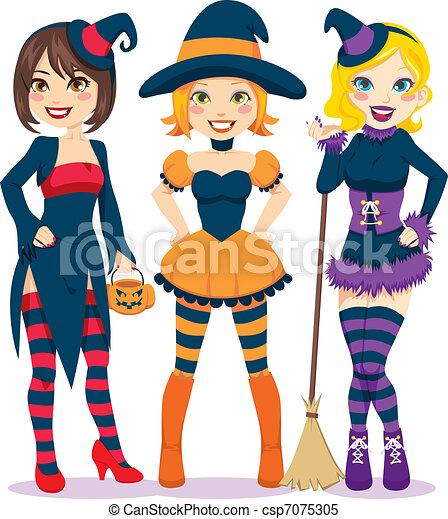 halloween, femmes - csp7075305