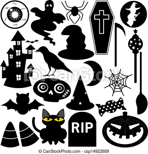 halloween festival theme silhouette csp14922689 - Drawings Of Halloween Pictures