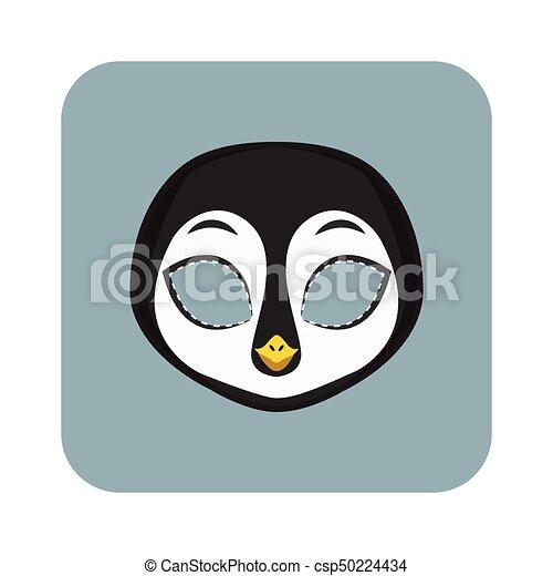halloween, festivités, autre, masque, manchots - csp50224434