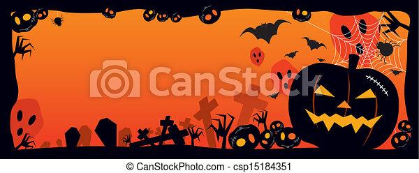 halloween, fond - csp15184351