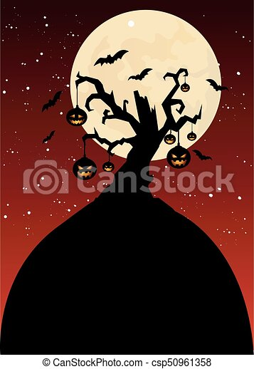 halloween, fond - csp50961358