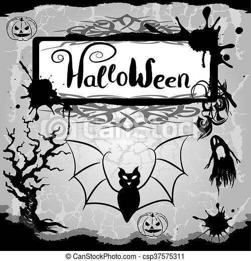 halloween, fond - csp37575311
