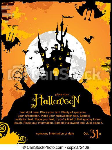 halloween, fond - csp2372409