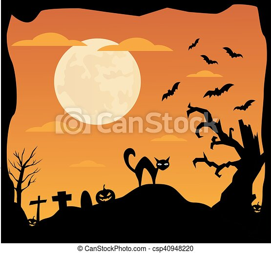 halloween, fond - csp40948220