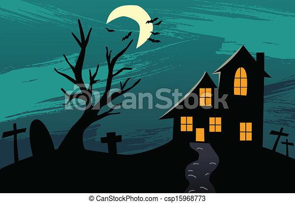 halloween, fond - csp15968773