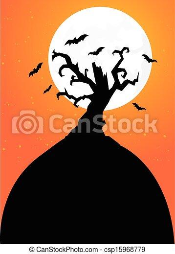halloween, fond - csp15968779