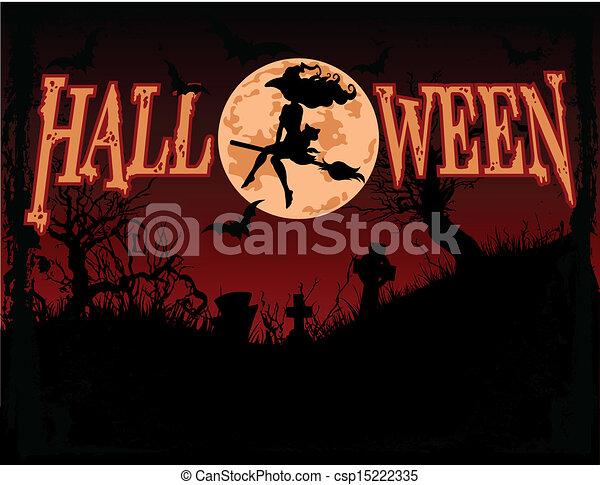 halloween, fond - csp15222335
