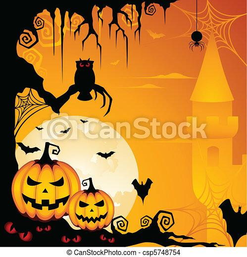 halloween, fondo - csp5748754