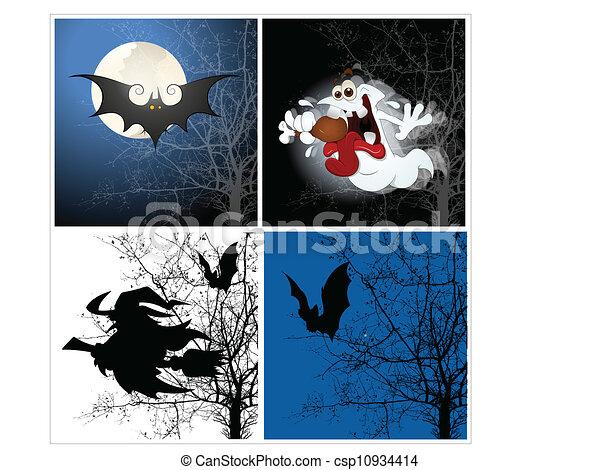 halloween, fondos - csp10934414