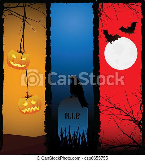 halloween, fondos - csp6655755