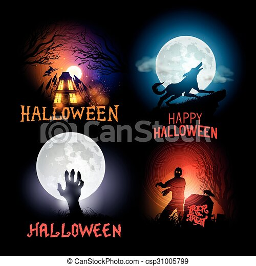 halloween, fondos - csp31005799