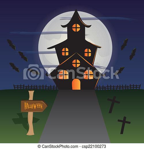 halloween, fondos - csp22100273