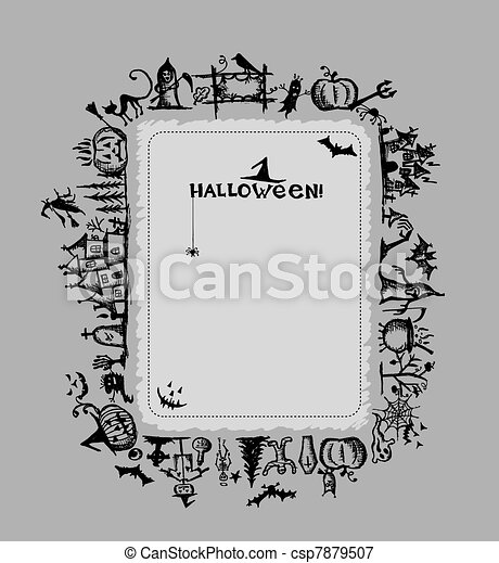 Halloween frame for your design - csp7879507