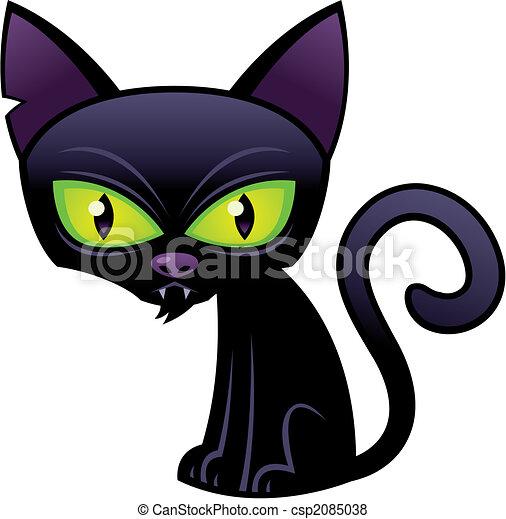 Gato negro de Halloween - csp2085038