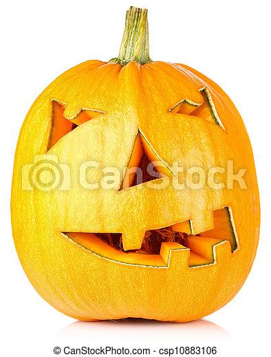 Calabaza de Halloween. Jack O'lantern - csp10883106