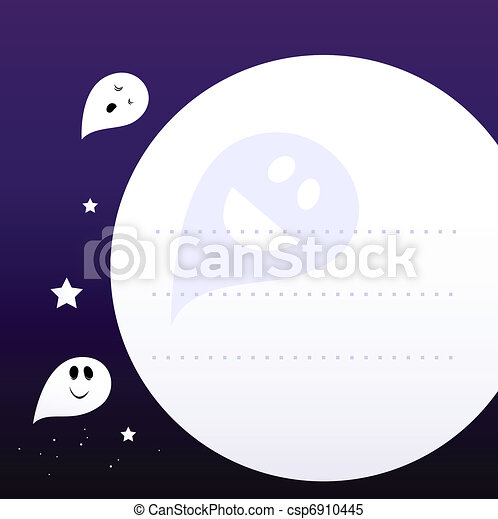 Halloween ghosts frame or background with blank space .... clipart ...