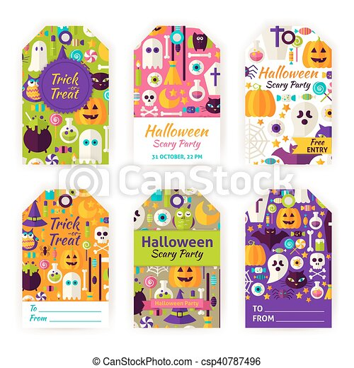 photograph about Printable Halloween Gift Tags named Halloween Reward Tag Labels