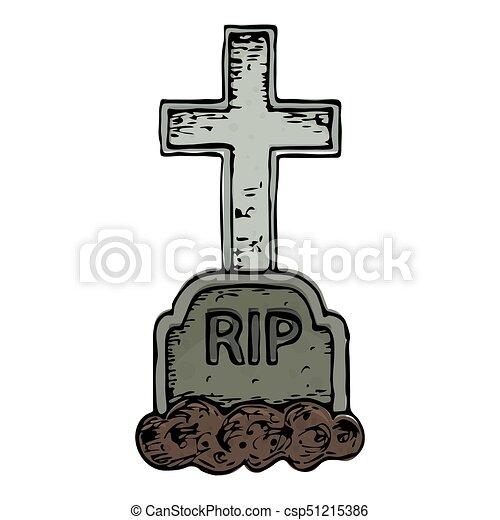 Halloween Kruis.Halloween Graf Illustratie