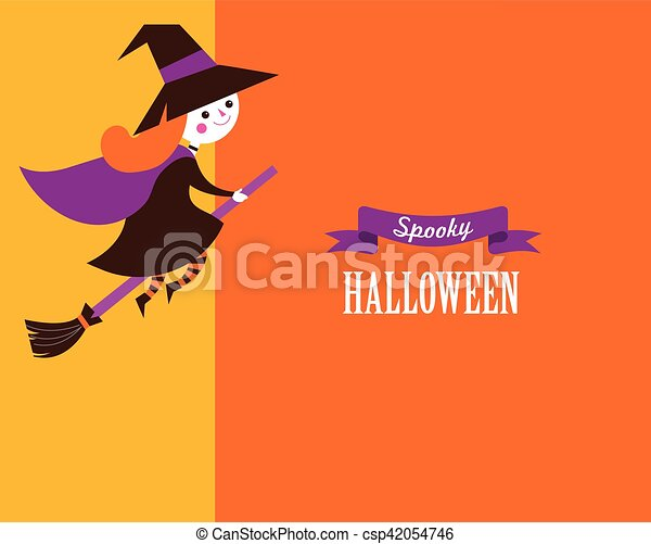 Halloween greeting cards posters banner with witch and text halloween greeting cards posters banner with witch and text csp42054746 m4hsunfo