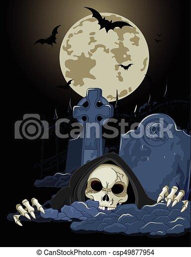 La parca de Halloween - csp49877954