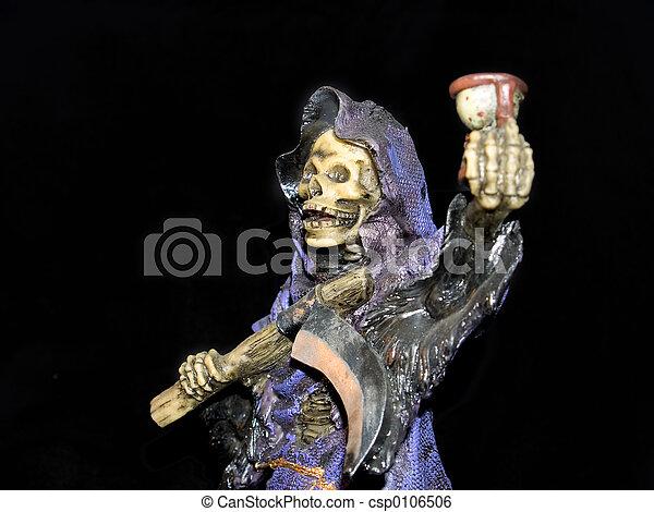 Halloween, grim reaper. - csp0106506