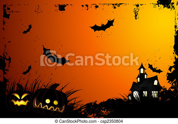 Halloween grunge background - csp2350804