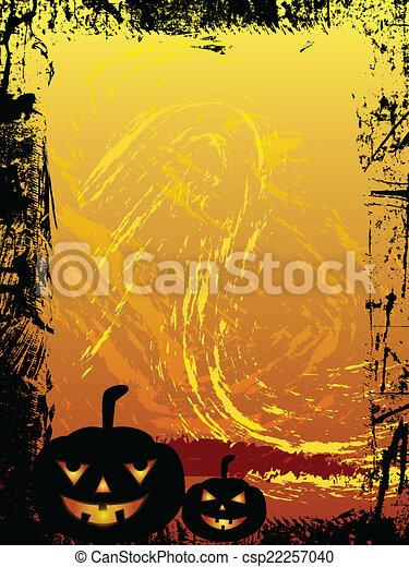Trasfondo grunge de Halloween - csp22257040