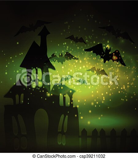 Halloween haunted house - csp39211032