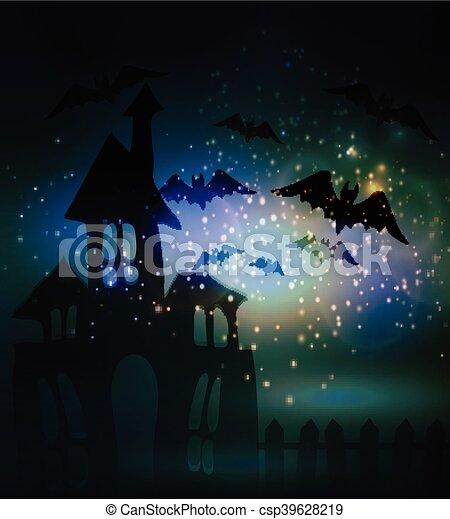 Halloween haunted house - csp39628219