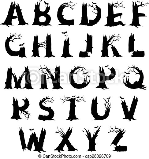Halloween Horror Alphabet Letters