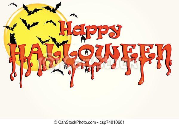 Halloween horror party background - csp74010681