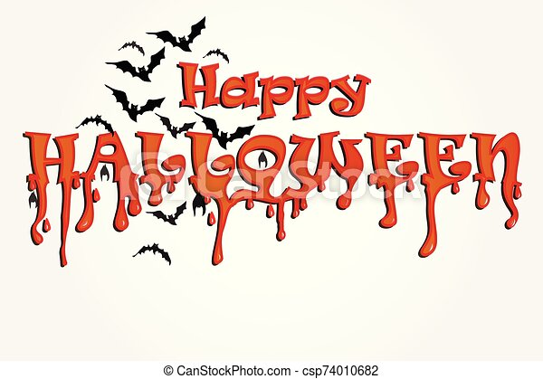 Halloween horror party background - csp74010682