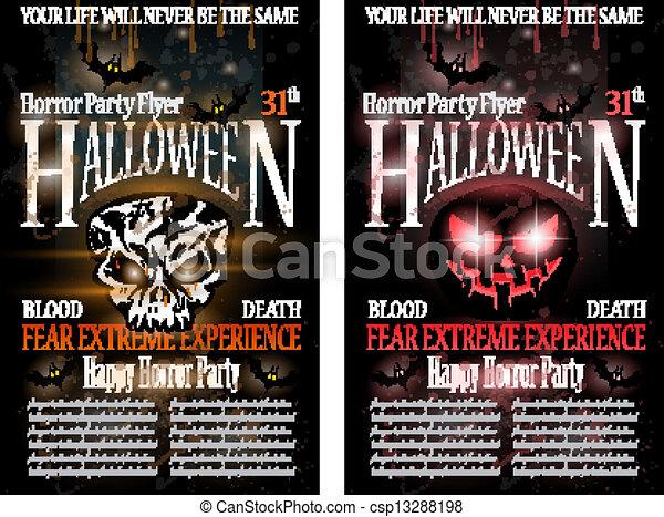 Halloween Horror Party Flyer - csp13288198