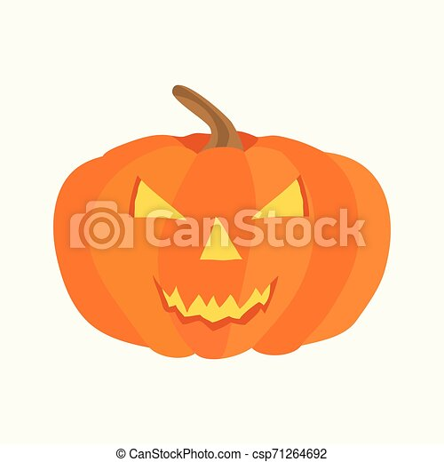 halloween icon. Flat isolated illustration for your web design. - csp71264692