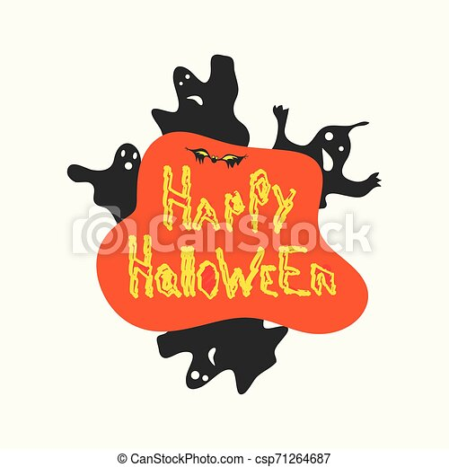 halloween icon. Flat isolated illustration for your web design. - csp71264687