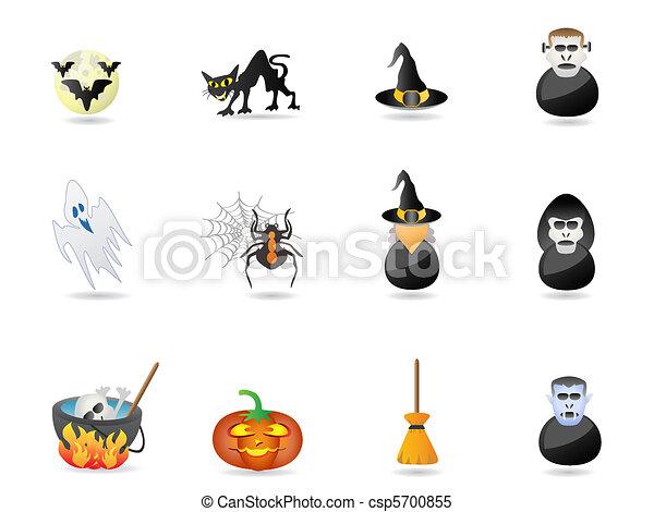 halloween icon set - csp5700855