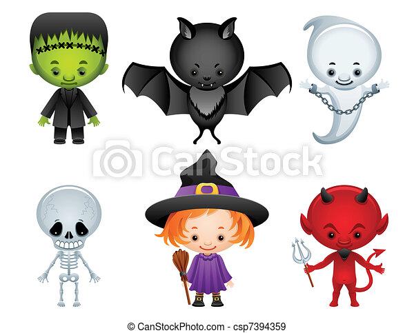 iconos de Halloween - csp7394359
