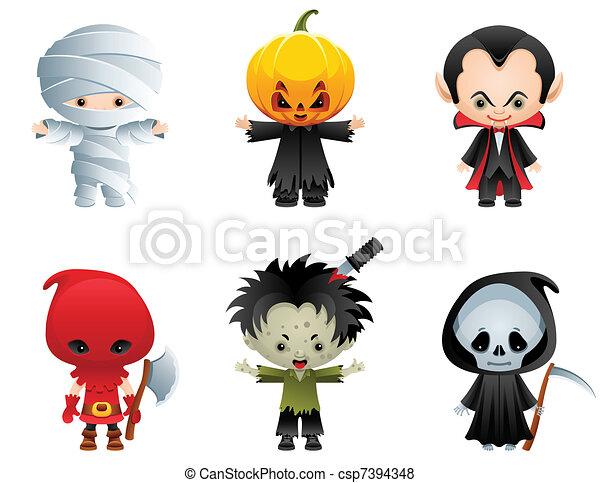 iconos de Halloween - csp7394348