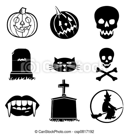 Halloween icons collection.