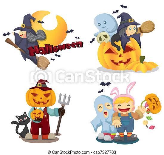 Halloween icons set - csp7327783