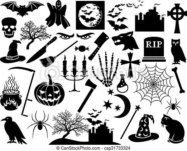 Halloween icons set - csp31733324