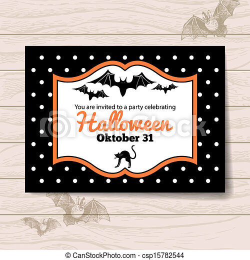 Halloween invitation eps vector search clip art illustration halloween invitation csp15782544 stopboris Image collections